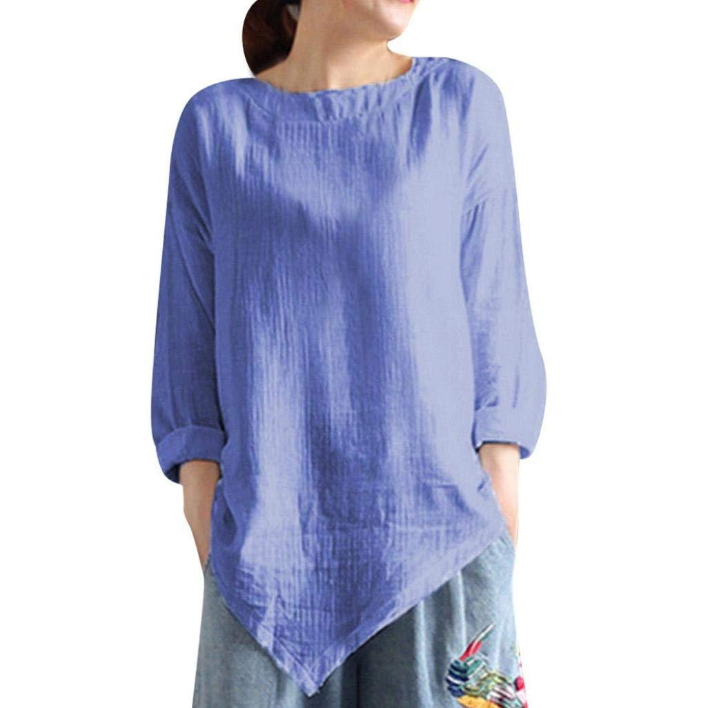 Blusa Mujers Yesmile Las Mujeres Camisa Camisa de Manga Larga de Blusa Suelta Informal de algodón de Verano de Las Mujeres de Verano: Amazon.es: Ropa y ...