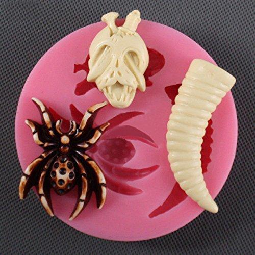 Cake Decoration - Silicone Cake Mold Fondant Skull 3d Decorating Halloween Decoration - Decorating Boat Molds Horse Tips-50 For Construction Card Eye Happy -
