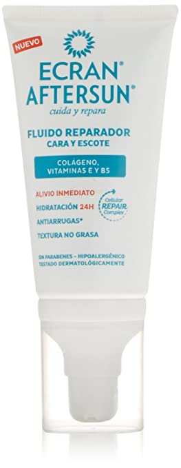 Amazon.com: ECRAN AFTERSUN cara y escote fluido reparador 50 ml: Clothing