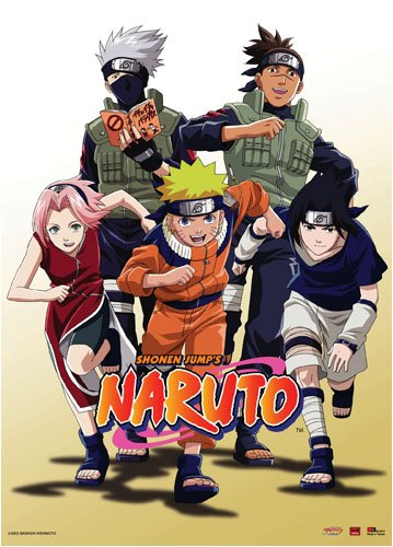 "Naruto : In Group of 5 Fabric Wall Scroll 31""x43"""