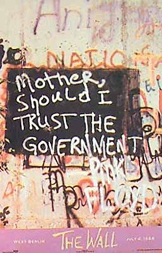 Pink Floyd The Berlin Wall Graffiti Poster Print Picture Mother Should I Trust