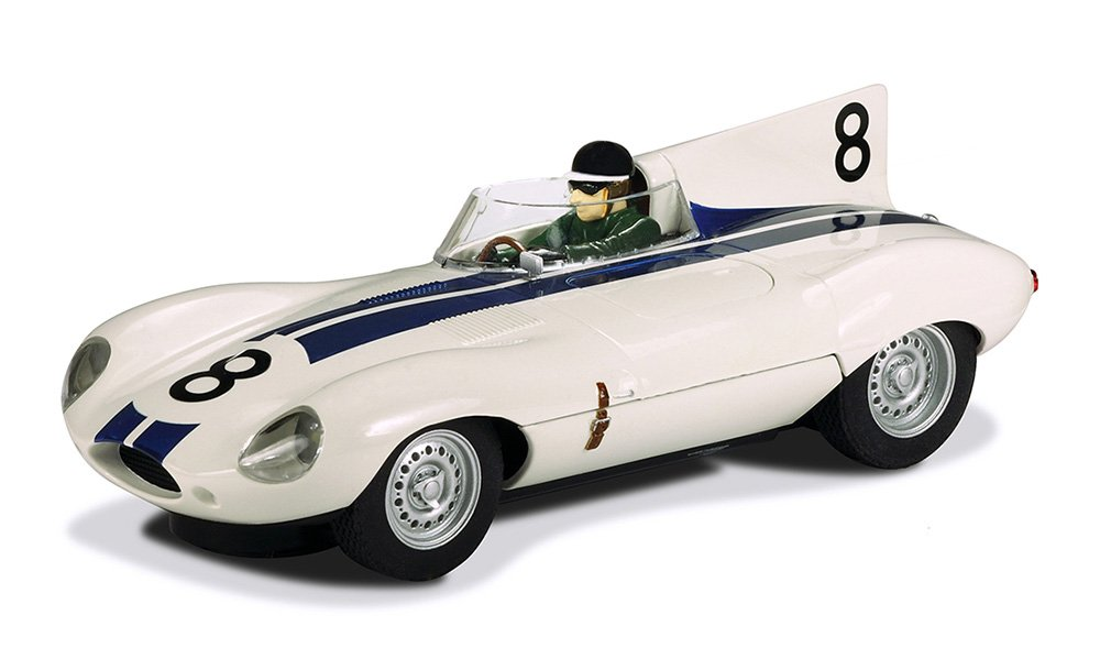 Scalextric Jaguar D-Type XKD 601 Slot Car Replica, 1:32 Scale