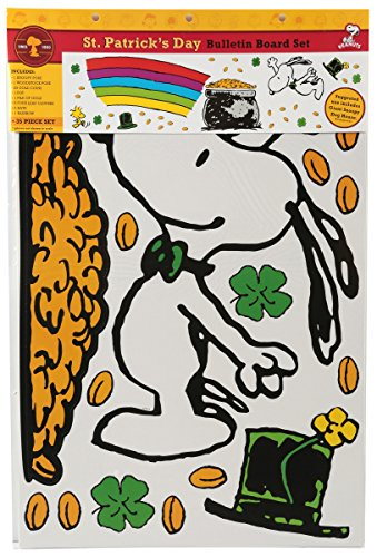 Eureka Peanuts St. Patrick's Day Bulletin Board Sets (847687)