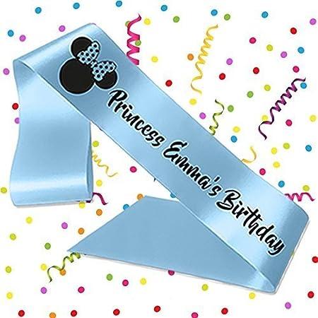 Sashes - Cinta de cumpleaños personalizable con diseño de ...