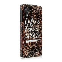 Coffee Before Talkie Hard Plastic Phone Case For LG Google Nexus 5