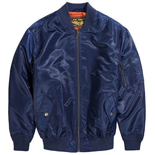 Landing Leathers Men's Air Force MA-1 Bomber Jacket - Navy M