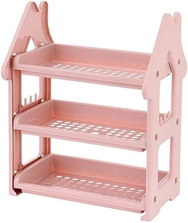 YAzNdom Rack de Condimentos De Tres Capas Especiero For El Hogar Mueble De Cocina De Almacenamiento para el Hogar Cocina Baño (Color : Pink, Size : M): Amazon.es: Hogar