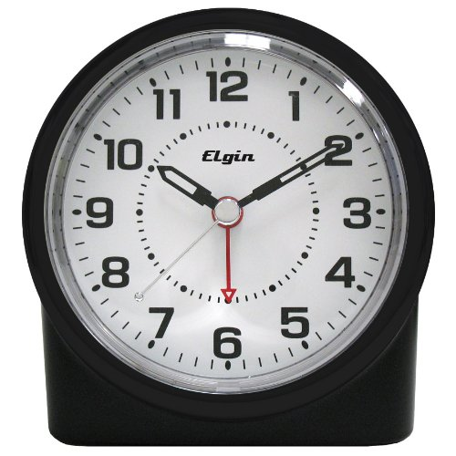 - Elgin Quartz Analog Clock With Auto Sensor Backlight