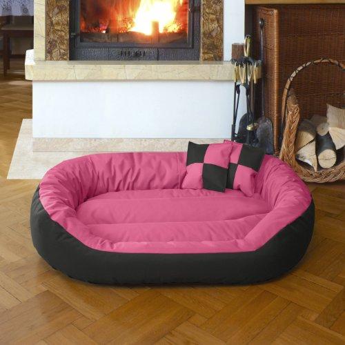 BedDog 4 en 1 Sunny Rosa/Negro XL Aprox. 85x70cm colchón para Perro, 13 Colores, Cama para Perro, sofá para Perro, Cesta para Perro: Amazon.es: Coche y moto