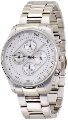 D&G Dolce & Gabbana Men's DW0431 Mentone Stainless Steel Silver Chronograph Dial Watch