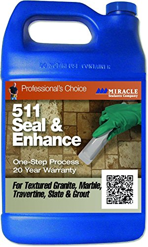 Miracle Sealants - 511 Seal and Enhance Penetrating Sealer and Color Enhancer 128oz - Gallon by Miracle Sealants