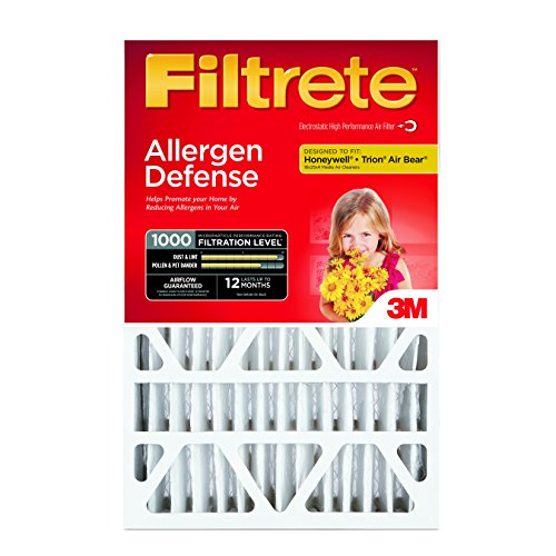 Filtrete Micro Allergen Defense Deep Pleat Filter, MPR 1000, 16-Inch x 25-Inch x 4-Inch (4-3/8-Inch Depth), 4-Pack