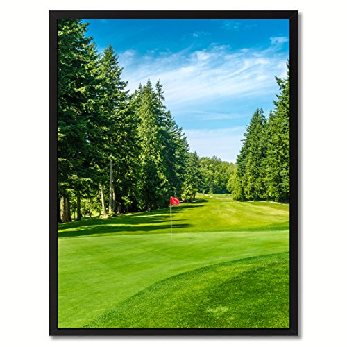 Vancouver Canada Golf Course Photo Canvas Print Picture Frame Home Decor Wall Art Decoration Gift Ideas - Canada Frames