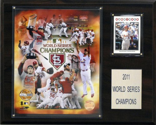 MLB Cardinals 2011 World Series Limited Edition Champions Plaque