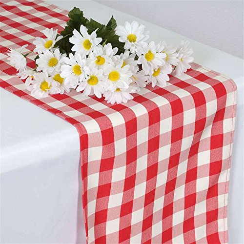 Ruffle Bowl Edge (Perfect Picnic Inspired Checkered Table Runner White / Red)