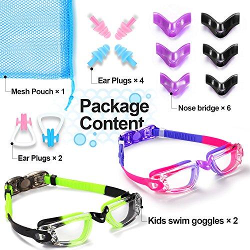 f00bc7cfe9ae Noorlee Kids Swim Goggles