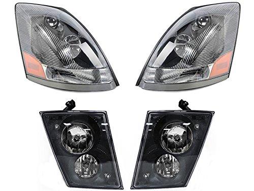 - Volvo 04 - 15 VN VNL VNM Truck 200 300 430 630 670 730 780 Head Light Fog Lamp