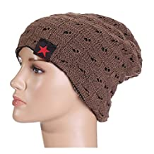 ACMEDE Unisex Trendy Warm Chunky Soft Stretch Cable Knit Slouchy Beanie Hat Skull Hat