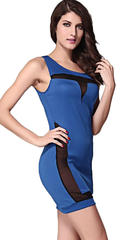 Lovelelify Women's Sexy Fashion Strap Bodycon Mini Dress
