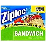 Ziploc Easy Open Tabs Sandwich Bags 125 count (Pack of 3)
