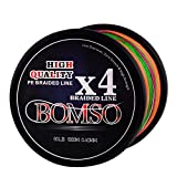Cheap BOMSO 1000m 1094yds 10lbs-60lbs PE Ultra High Molecular Weight Polyethylene(HHMWPE) Dyneema Braided Fishing Line 4 Strands(CO50