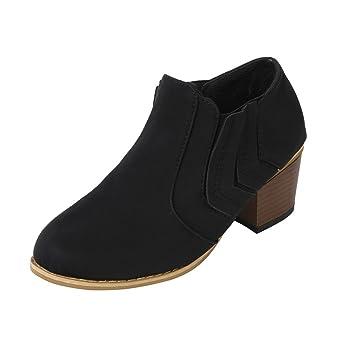a2d8e116158053 Stiefel Damen Kolylong® Frauen Elegant Stiefeletten mit Absatz Vintage  Stiefel Warm Stiefel Kurz Mädchen Freizeit