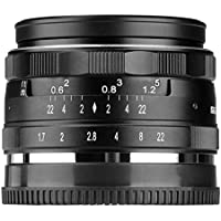 Meike MK-E-35-1.7 35mm F1.7 Large Aperture Manual Prime Fixed Lens APS-C for Sony E-Mount Digital Mirrorless Cameras A5000, A5100, A6000, A6100,A6300 A6500 A9 NEX 3 NEX 3N NEX 5 NEX 5T NEX 5R NEX 6 7