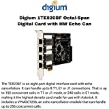 Digium 1TE820BF Eight [8] Span Digital T1/e1/j1/pri Pci-express Card And Hw Echo Can