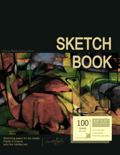 "Sketchbook: Sketchpad/Drawing Book by smART bookx [ 100 white sheets * 8.5"" x 11"" * Paperback ] (Sketchbooks & Sketch Pads)"