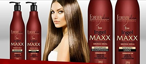 FOREVER LISS MAXX BRAZILIAN KERATIN TREATMENT KIT 2 X 1000ML by Forever Liss Professional (Image #4)