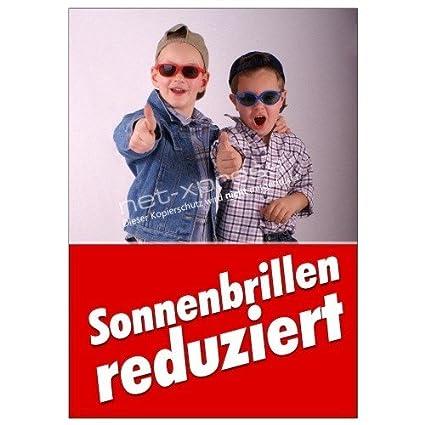 Cartel de Publicidad Gafas de Sol Gafas Reducido Din A1 ...