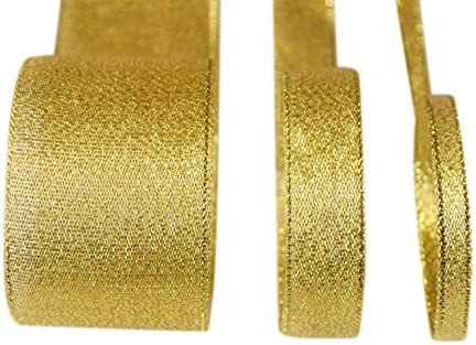 "Wired Ribbon Gold 25 Yards 7//8/"" 32 spools available"