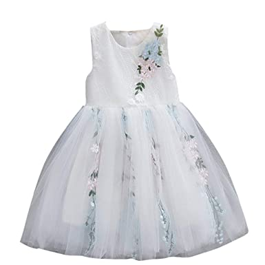 4ad0a51fcf5f6 DAY8 Robe Princesse Bebe Fille Été 2019 Tulle Tutu Robe Cérémonie Baptême  Fête Mariage Fille Bebe