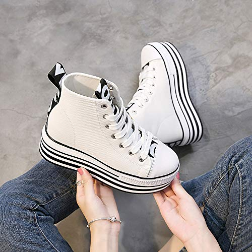 Winter Leather Thirty Shoes Autumn Black Shoes Inside And Four KPHY Thick High Bottom Shoes Shoes Casual High Single UIHWfW1p
