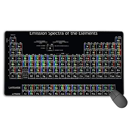 Oversize Large Gaming Mouse Pad Mat Periodic Table of Chemical Elements  Rectangle Non-Slip Thick Mousepad (29 5''X 15 8'' X 0 12'')