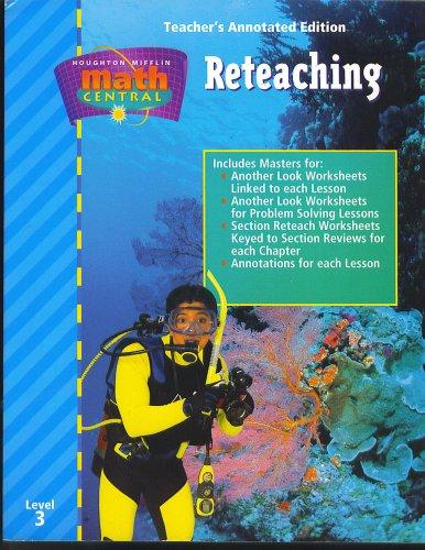 Houghton Mifflin Math Central, Reateaching, Teacher's Annotated ...