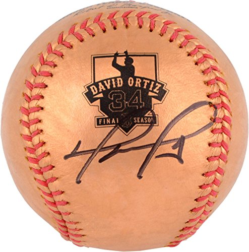 David Ortiz Boston Red Sox Autographed 24K Gold Retirement Logo Baseball - Fanatics Authentic Certified by Sports...