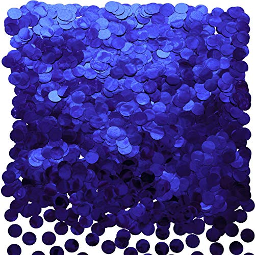 Blue Foil Metallic Round Table Confetti Decor Circle