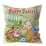 SFE Easter Rabbit Print Pillow Case Polyester Sofa Car Cushion Cover Home Decor