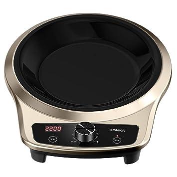 Cocina De Inducción Cóncava Hogar Salteado Freír Estufa Caliente A Prueba De Agua Calentamiento Uniforme De