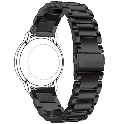 Ruentech Correa de Repuesto para Polar Vantage M Strap, Acero Inoxidable Correa de Metal para Vantage M GPS Smartwatch