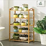 Magshion Shelf Rack Bathroom Kitchen Storage Shelf Plant Stand Bookcase (5 Tier)