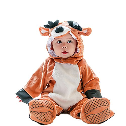 Wolfman Jack Costume (MagicQK Toddler Costume, Christmas Cute Baby Animal Costumes for infants from 3-Month to 3 Years Old (18-24 Months(2T)/M/30