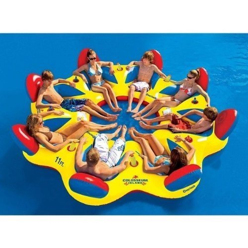 Colosseum Island 8-person Party Island Raft]()