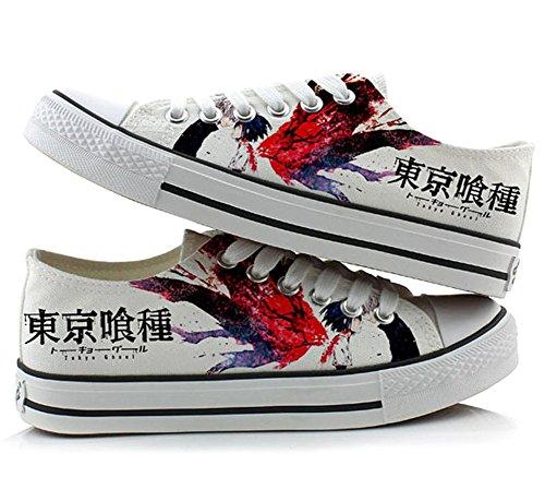 Tokyo Ghoul Kaneki Ken Kirishima Touka Cosplay Sko Canvas Sko Casual Joggesko 3 Valg Bilde 3