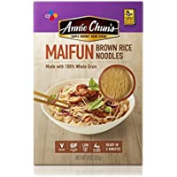 Annie Chun's Brown Rice Noodles, Maifun   Vegan, 8-oz (Pack of 6)   Whole Grain   Gluten-Free Alternative to Angel Hair Pasta