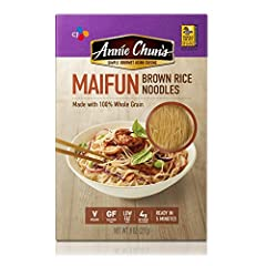 Our delicate and appealingly tender Maifun (angel hair) Brown Rice Noodles are made with 100-percent whole grain and are gluten-free. These noodles are delicious any way you serve them, from soups and stir-fries to cold noodle salads. Toss th...