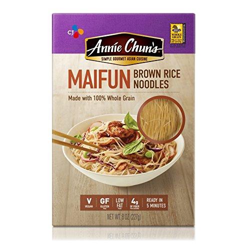 Annie Chun's Brown Rice Noodles, Maifun, 8 Ounce (Pack of 6)