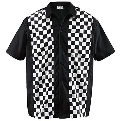 eae0bc785e01e6 Aloha-Beachwear Men's Bowling Shirt Rockabilly Panel Ska Check plaid  chequered