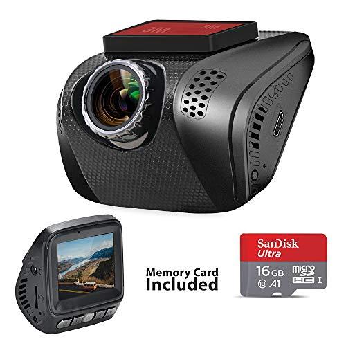 Acumen Fhd 1080P Dash Cam  Car Dvr Wide Angle Vehicle Dashboard Camera Recorder Sony Exmor Sensor Wdr Loop Recording G Sensor  16Gb Memory Card Included